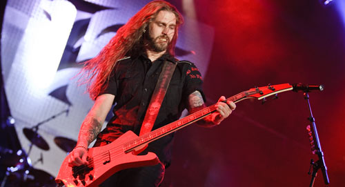 Hammerfall's Fredrik Larsson - new EBS Artist! Photo by Daniel Falk