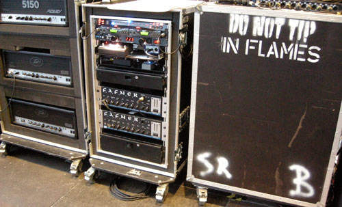 Peter Iwers rack with his EBS Fafner amps, driving 2x EBS NeoLine 810 cabinets