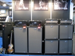 EBS wall of ClassicLine with cabinets, T90 tube heads and Classic 450 solid state heads.