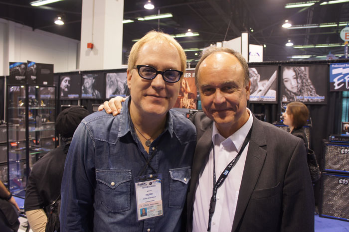 Hugh McDonald from Bon Jovi with Bo.