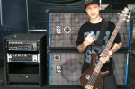 Marcus from Dead By April on sound check, with his Fafner II amp and ProLine cabinets.