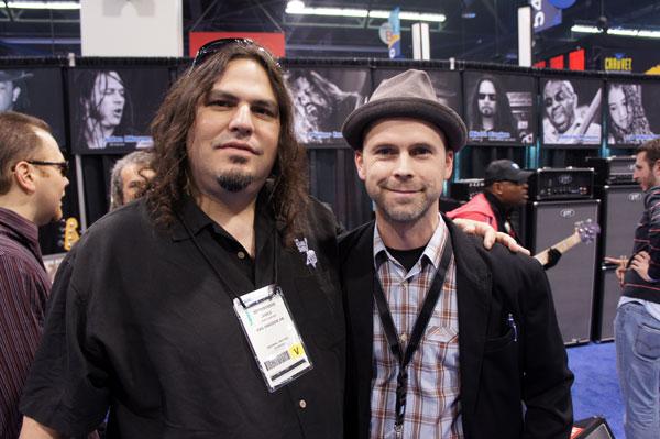 Kevin Eubanks guitar tech, James Grover and Ralf.