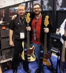 Mats with Mike Van Tine from Sandberg basses.