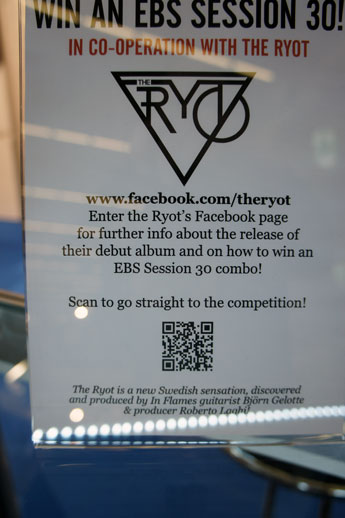 Swedish band the Ryot in co-operation with EBS offer you the chance to win an EBS Session 30. facebook.com/theryot