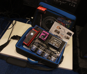 The new EBS CarryOn pedal board with case.
