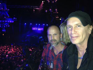 Billy Sheehan with EBS A/R Ralf Bjurbo at Dirty Loops sold out concert in Stockholm.