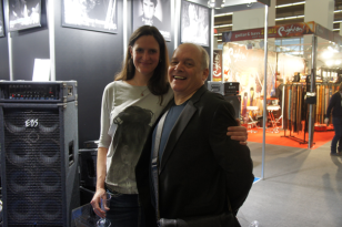 Guitarist Reno Schnell with Sibi from EBS German distributor Box Of Trix.