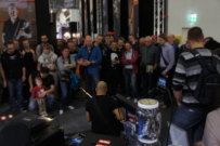 The crowd enjoy Jay-Tee Teterissa's demo.