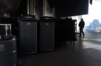 EBS gear on the main stage, ready for load in.