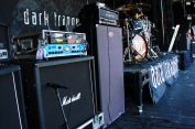 Set up for Dark Tranquillity.