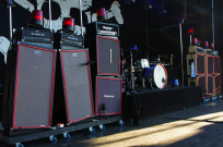 Johan Blomquist cool EBS rig with Backyard Babies.